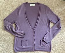 Zara, Silk/Cashmere Blend Purple Cardigan, M
