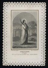 santino merlettato-holy card-canivet*LETAILLE-S.EUGENIA V.M.