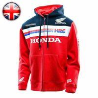 Stock Honda HRC Racing Zip Hoodie Moto GP Racing Suit Casual Sweater Coat Jacket