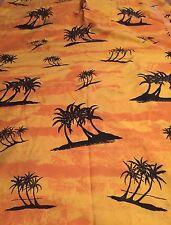 Joe Boxer Twin Flat Sheet Palm Trees Orange Yellow Paradise Summer Fabric