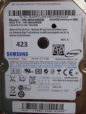 500GB Samsung HN-M500MBB   P/N: C7262-G12A-AJMVM   2011.12  #423