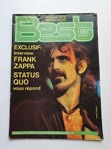 REVUE BEST N° 115 FEV 1978 FRANK ZAPPA STATUS QUO
