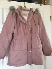 girls pink coat age 9-10