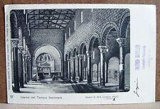 Castel S.Elia (presso Nepi) - interno Tempio Nazionale [piccola, b/n, viaggiata]