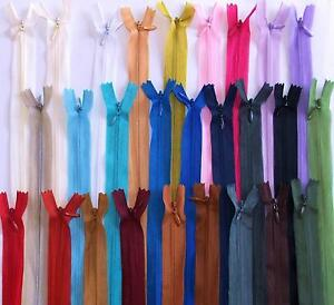 """Best Quality no.3 Concealed Invisible Closed End Zips 6"""" to 22"""" (15 to 55cm)"""