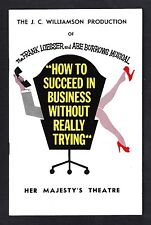 """Frank Loesser """"HOW TO SUCCEED IN BUSINESS"""" Melbourne, Australia 1963 Playbill"""