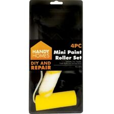 4pc Mini Foam Paint Roller Set Gloss Emulsion Decorating Decorator Tray Sponge