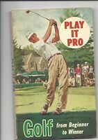 "1960 Play it Pro Golf soft cover book 5"" x 8""  66 pages"