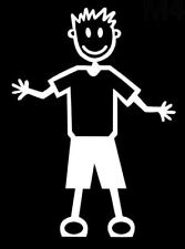 MY STICK FIGURE FAMILY Car Window StIckers M4 Adult Male in Shorts