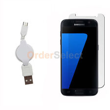 Usb Micro Retract Cable+Lcd Screen Protector for Android Phone Samsung Galaxy S7