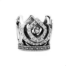 ELSA's CROWN-Queen-Frozen-Solid 925 sterling silver European charm bead-CZ