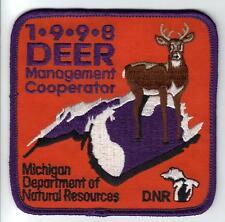 1998 MICHIGAN DNR SUCCESSFUL DEER HUNTER PATCH -BEAR-TURKEY-ELK-MOOSE-FISHING