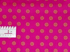 15,27€/m² - 25cmx110cm SPHERE Kugeln Gelb auf Pink - Patchworkstoff Alison Glass