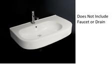 "Lacava 2971-001 Tre Vanity Top Porcelain Lavatory Sink White W31 3/4"""