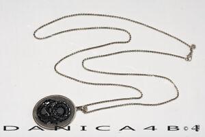 $1495 John Hardy Legends Naga Silver Oval Black Onyx Pendant Necklace