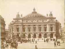 France, Paris, l'Opéra de Paris  Vintage albumen print.  Tirage albuminé