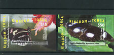 Tonga 2015 MNH EMS Part 1 Butterflies 2v Deluxe M/S Insects Eggfly Butterfly