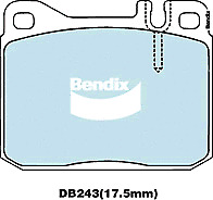 Brake Disc Pad Set Front Bendix DB243 GCT For MERCEDES-BENZ Coup Kombi S-Class
