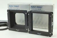 【N MINT+】 Mamiya RZ67 RB67 Bellows Lens Hood G3 77mm Ring + Front Hood Japan 363
