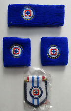 Men's Assorted Soccer Wristbands Headband Mini Banner, La Maquin Cruz Azul Team