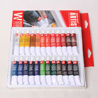 New Pro 24 Pcs Colors 12ml Paint Tube Draw Painting Water Color Set
