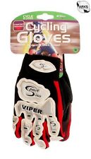 SPORT DIRECT BICYCLE CYCLE BMX VIPER BLACK & RED GLOVES - LARGE - SG70L