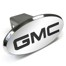 GMC Engraved Oval Chrome Aluminum Tow Hitch Cover