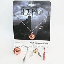 Harry Potter Quidditch Interchangeable 5 Multi Charm Pendant Necklace Set NEW