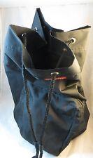 "Fashion Bug Cinch Style Backpack Black Large Bag w/ Red Fashion Bug Logo 17""T.."