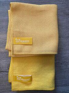 JEMAKO Fenster Set, Profituch Plus S + Trockentuch 45x60 cm gelb