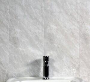 7 Grey Marble Decorative Wall Cladding Bathroom Cladding Kitchen Pvc Cladding