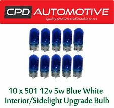 10 x 501 Blue White Xenon LED Canbus Sidelights Interior Upgrade Bulbs Bulb T10