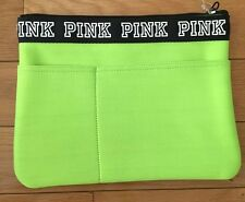 NWT Victoria's Secret Pink Nation Bikini Pouch Travel Tote Bag Neon Green Swim