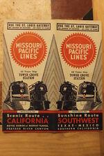 MISSOURI PACIFIC RAILROAD SCENIC-SUNSHINE ROUTE PUBLIC TIMETABLE JUNE 16,1946