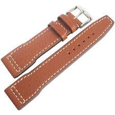 22mm Rios Mens Typhoon Cognac Tan Buffalo Grain Leather German Watch Band Strap