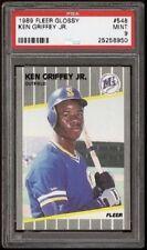 Ken Griffey Jr. HOF 1989 Fleer Glossy #548 Rookie Card rC PSA 9 Mint QTY