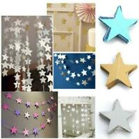 Paper Garland Strings Star Shape Banner Wedding Birthday Party Hanging Decor SS3