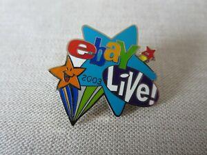 eBay Live 2003 Orlando Florida EBAY LIVE Star Enamel Lapel Pin Back NEW Stars FL