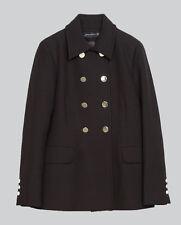 NWT AUTHENTIC ZARA Double-Breasted Short Coat Jacket BLACK 5274/240 M Medium