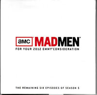 MAD MEN FOR YOUR 2012 EMMY CONSIDERATION DVD SEASON FIVE