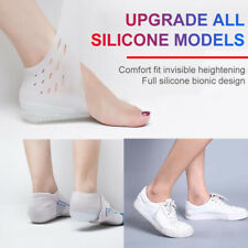 3/4/5CM Unisex Invisible Height Lifting Increase Socks Heel Pad Silicone Insoles