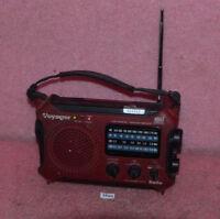 Kaito KA500 Voyager AM FM SW Weather NOAA Solar/crank emergency Radio Light.