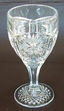 Antique Imperial Glass Star & File Wine Goblet  #612  AKA Star & Hobstar