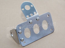 Chrome Side Mount Motorcycle Brake Tail Light License Plate Bracket For Harley