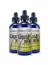 Liquid MSM Drops with Vitamin C 4 Ounce Bottles 3-Pack Sterile ... Free Shipping