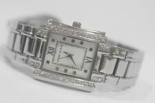 Anne Klein Watch * 9871MPSV MOP Square Dial Crystals Silver Steel COD PayPal
