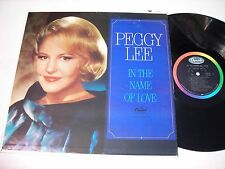 Peggy Lee In the Name of Love 1965 Mono LP VG++