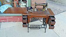 Victorian Antique Parlor quarter Oak & Iron Franklin Sewing Machine Beautiful