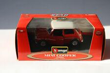 Mini Cooper (1960) Burago - Star Collection 1:24 Rot mit weißem Dach
