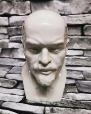 More details for vintage white gloss blanc de chine porcelain pottery bust vladimir lenin head